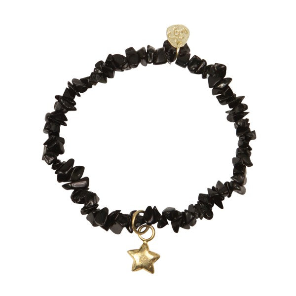 A Beautiful Story Armband 'Power Black Onyx Gold'