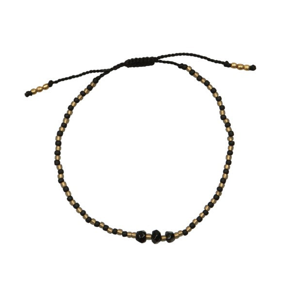 A Beautiful Story Armband 'Bright Black Onyx'