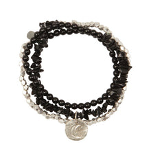 A Beautiful Story Armband 'Flair Black Onyx Silber'