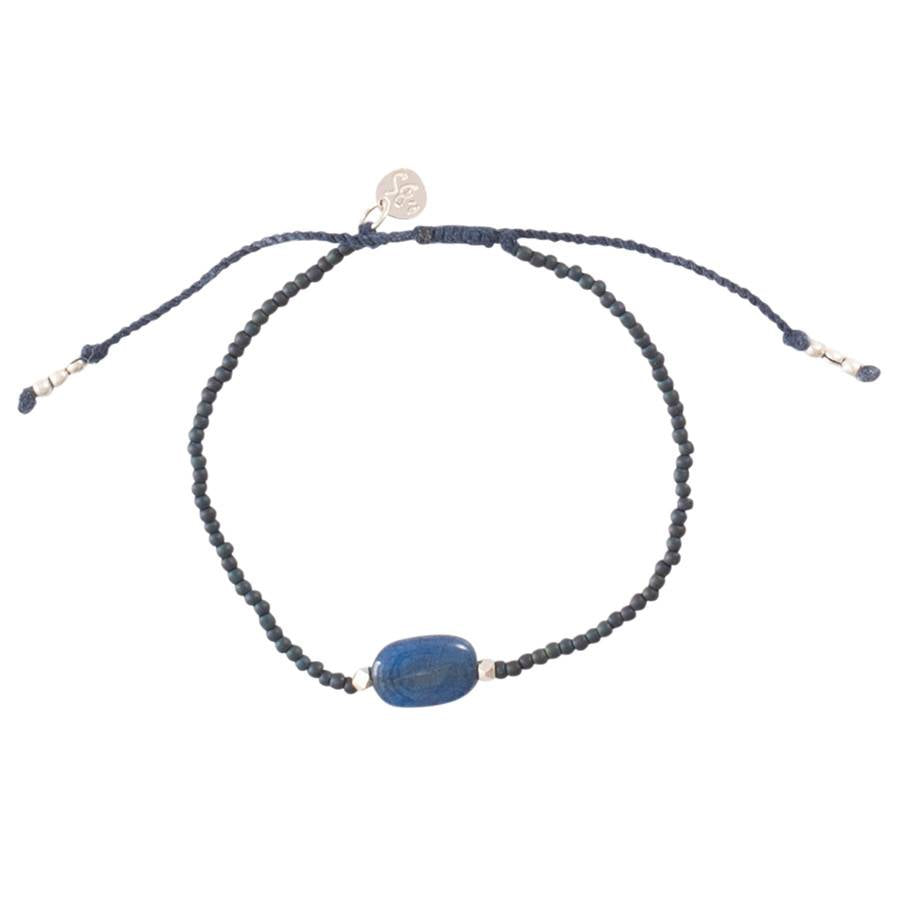 A Beautiful Story Armband 'Winter Lapis Lazuli Silber'