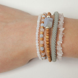 A Beautiful Story Armband 'Superwrap Air blue Agate'