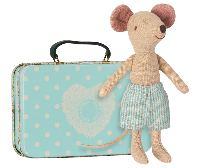 Maileg Big Brother Mouse with Suitcase