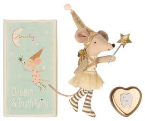 Maileg Tooth Fairy Big Sister Mouse & Metal Box