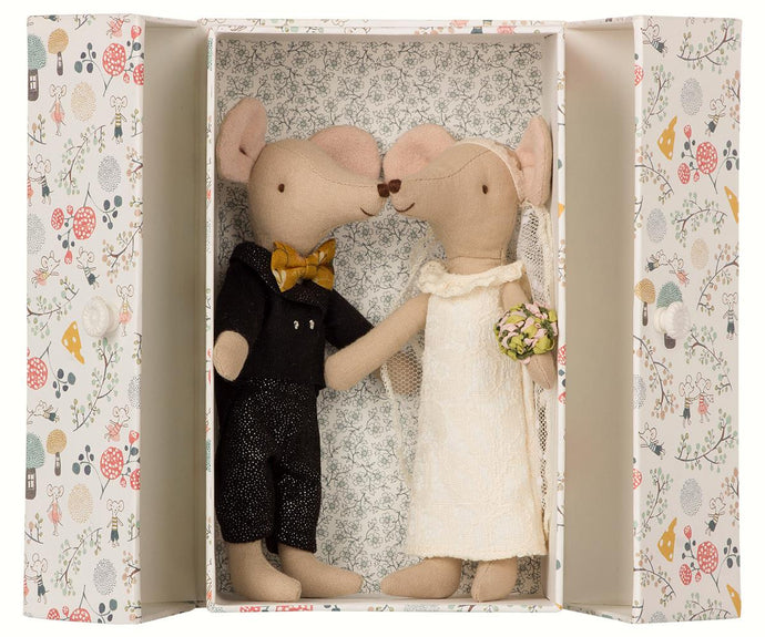 Maileg Wedding Mouse Couple in Box