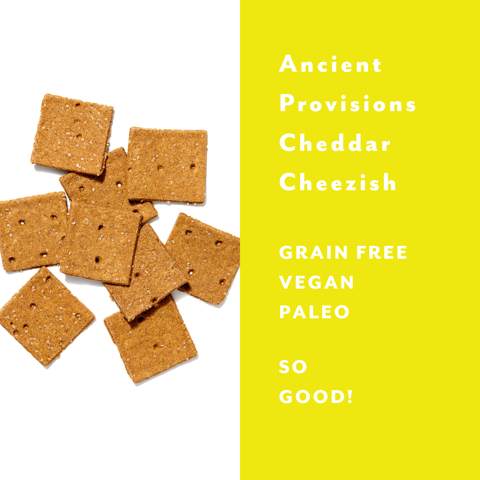 Ancient Provisions Cheddar Cheezish Crackers