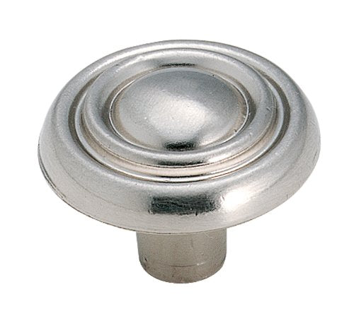 Amerock BP1306G9 Brass and Sterling Traditions Round Knob, Sterling Nickel,