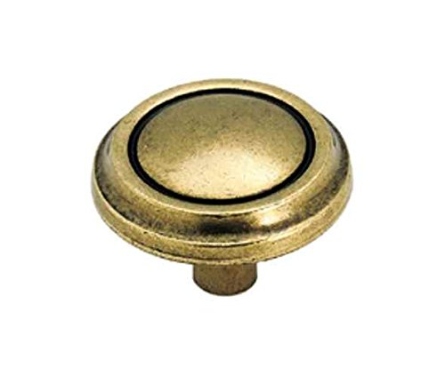Allison Round Oversized Drawer Knob in Regency Brass Finish