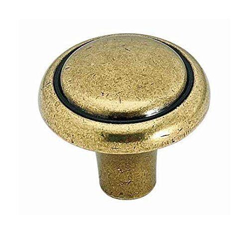 Brass & Sterling Traditions Knob - Burnished Brass (Set of 10)