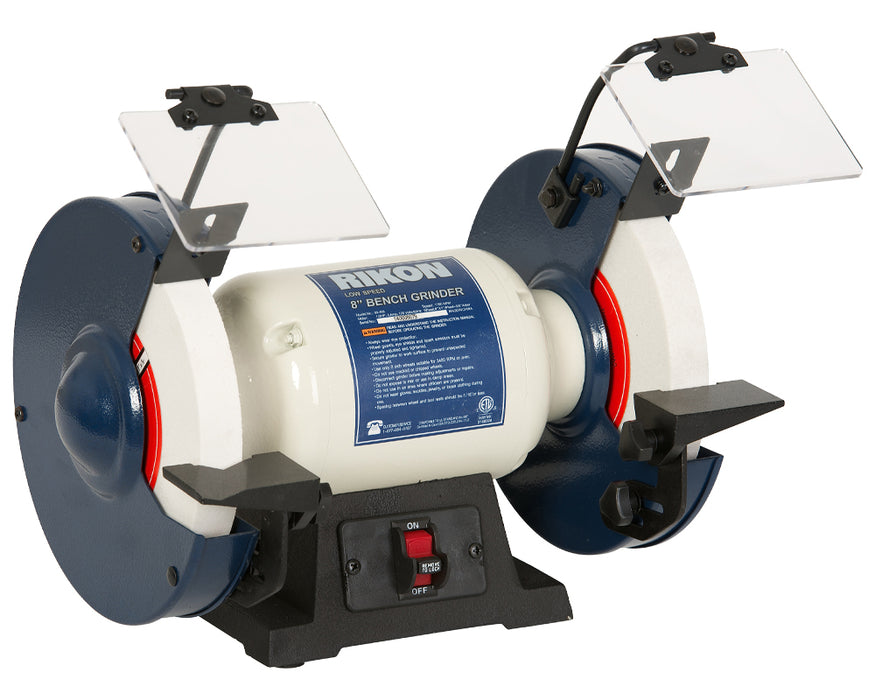 "Rikon 80-805, 8"" Slow Speed Bench Grinder"