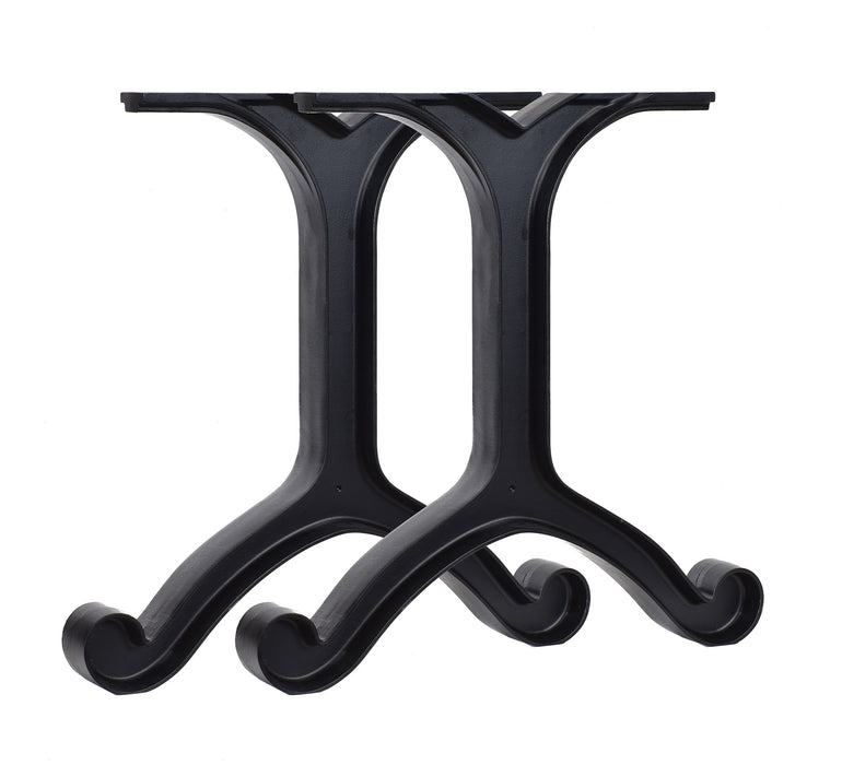Set of (2) Cast Aluminum Table Legs 28""