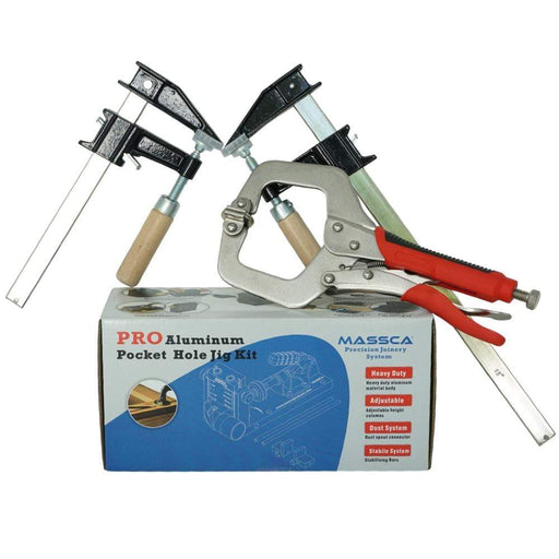 Massca Pro Aluminum Pocket Hole Jig System M2 | Bundle #4