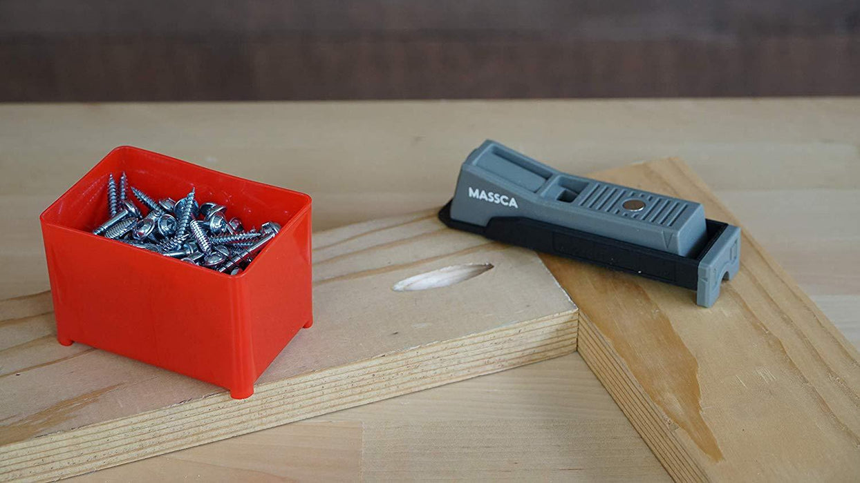 Massca Single Pocket-Hole Jig. Includes a Single Massca Pocket-Hole Jig, Drill Bit, Stop Collar, and Hex Key. Perfect for DIY projects and woodworking builds. Easy to use and take on the go or to the job site.