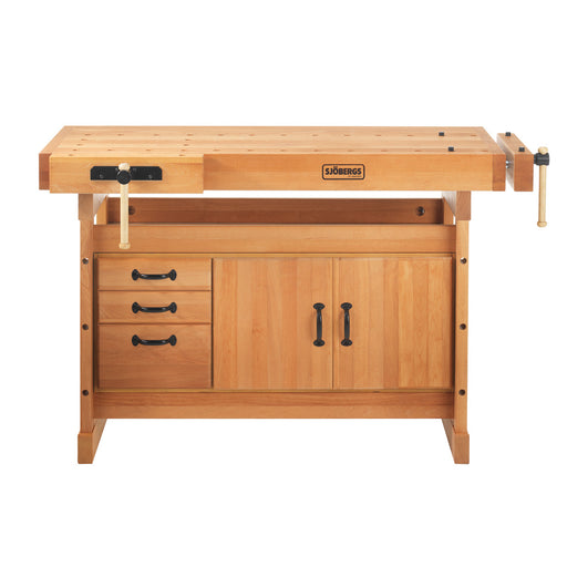 Sjobergs Scandi Plus 1425 Wood Workbench and Cabinet