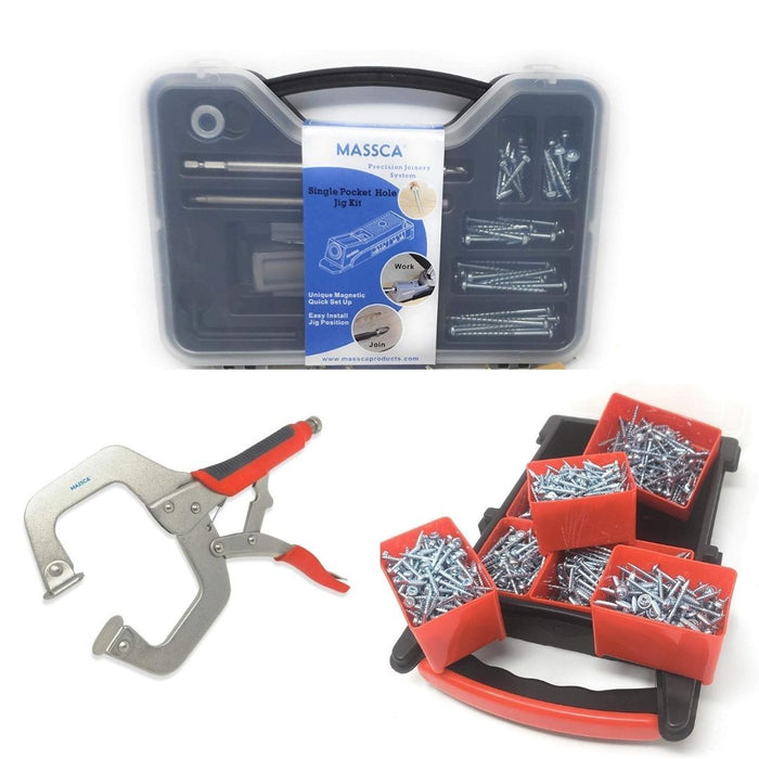 Massca Single Pocket-Hole Jig Set Bundle
