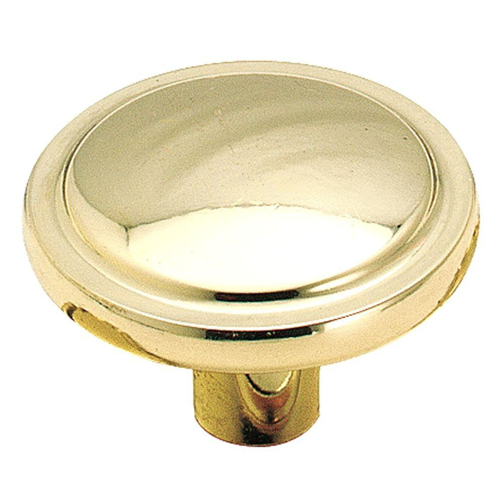 Amerock 1-1/4-in Polished Brass Allison Round Cabinet Knob