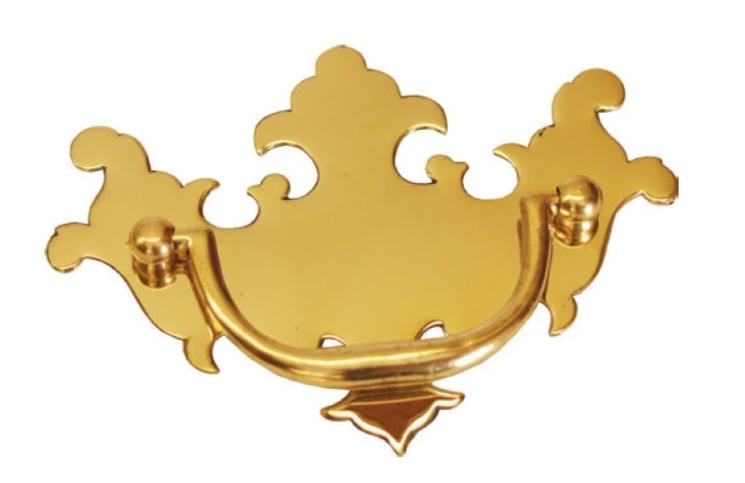 Chippendale Solid Brass drawer Pulls