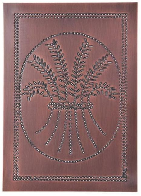 Pie Safe Tin Wheat panel