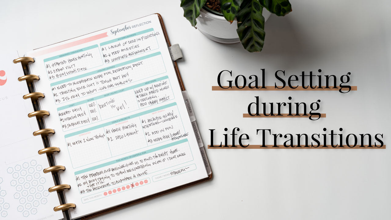 Goal Setting During Transitional Periods | Reflect & Goal Set September 2019