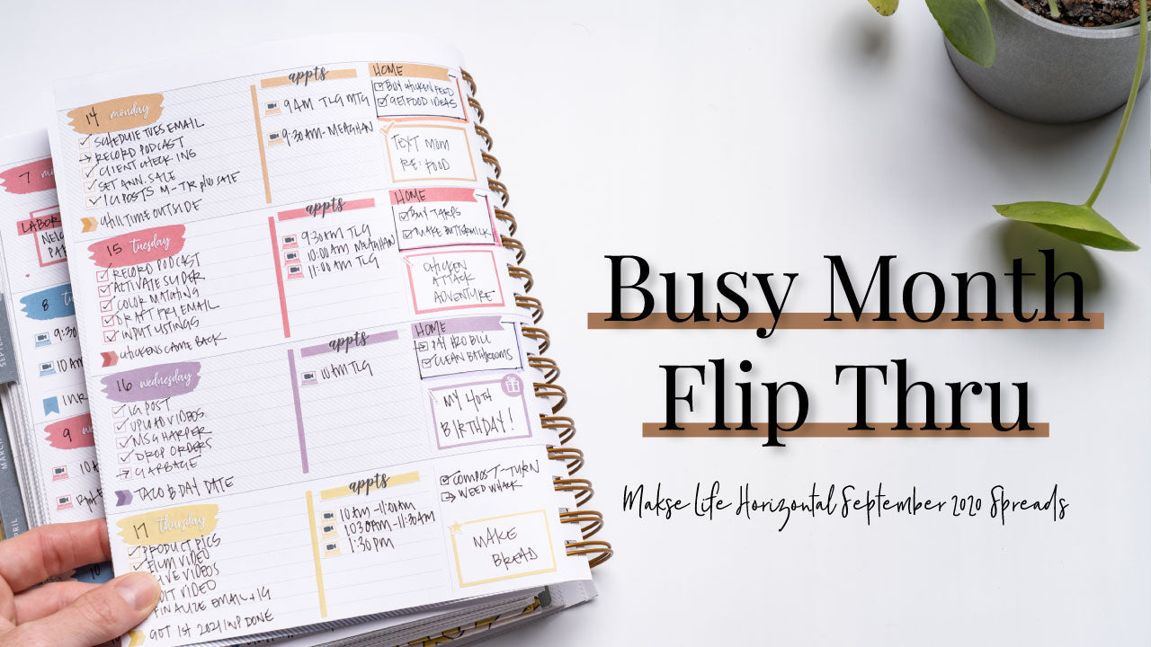 Busy Month Planner Spreads