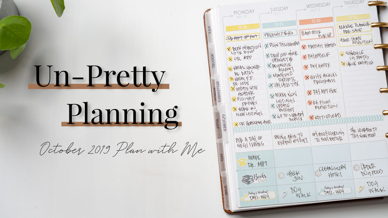 Un-Pretty Planning | October 2019 Plan with Me