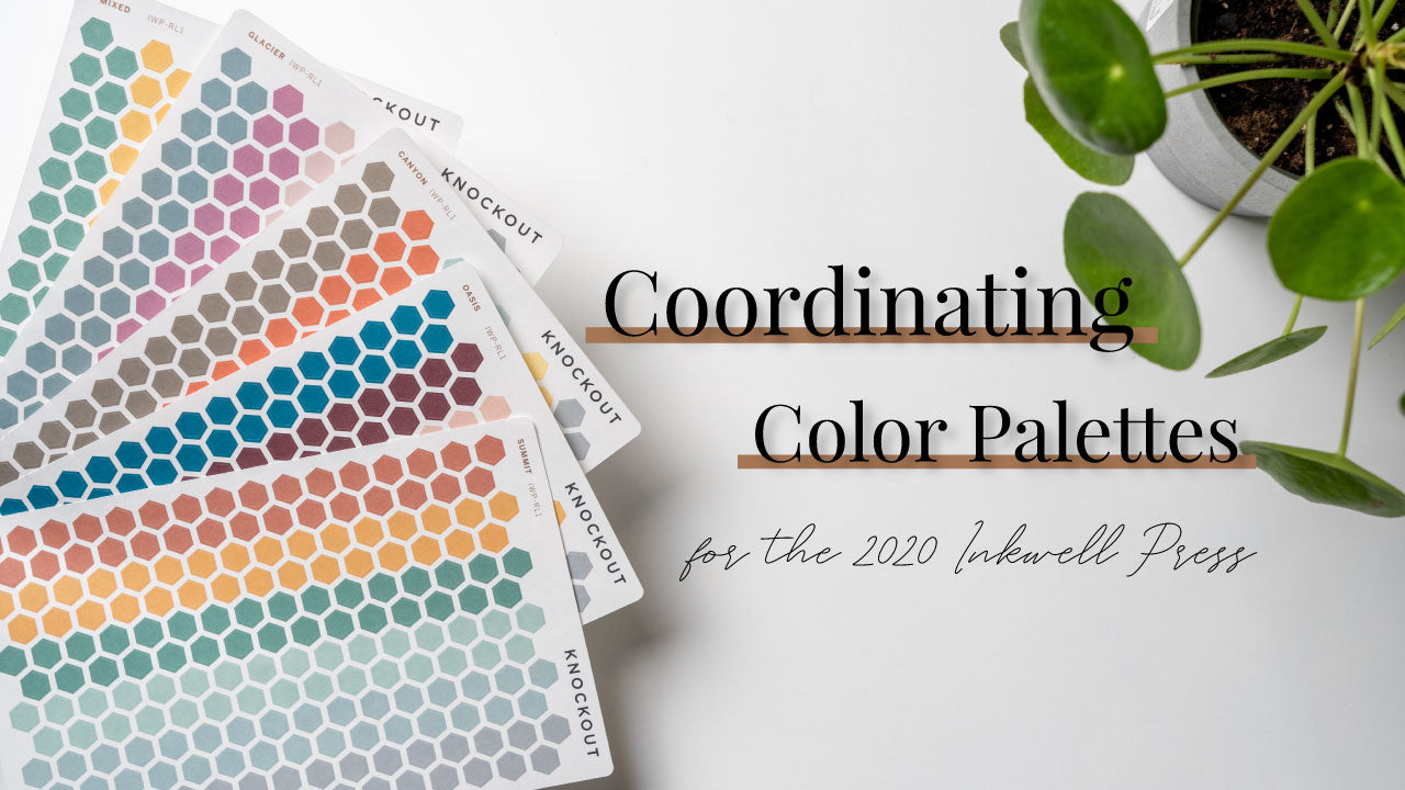 Our 2020 Inkwell Press Coordinating Palettes