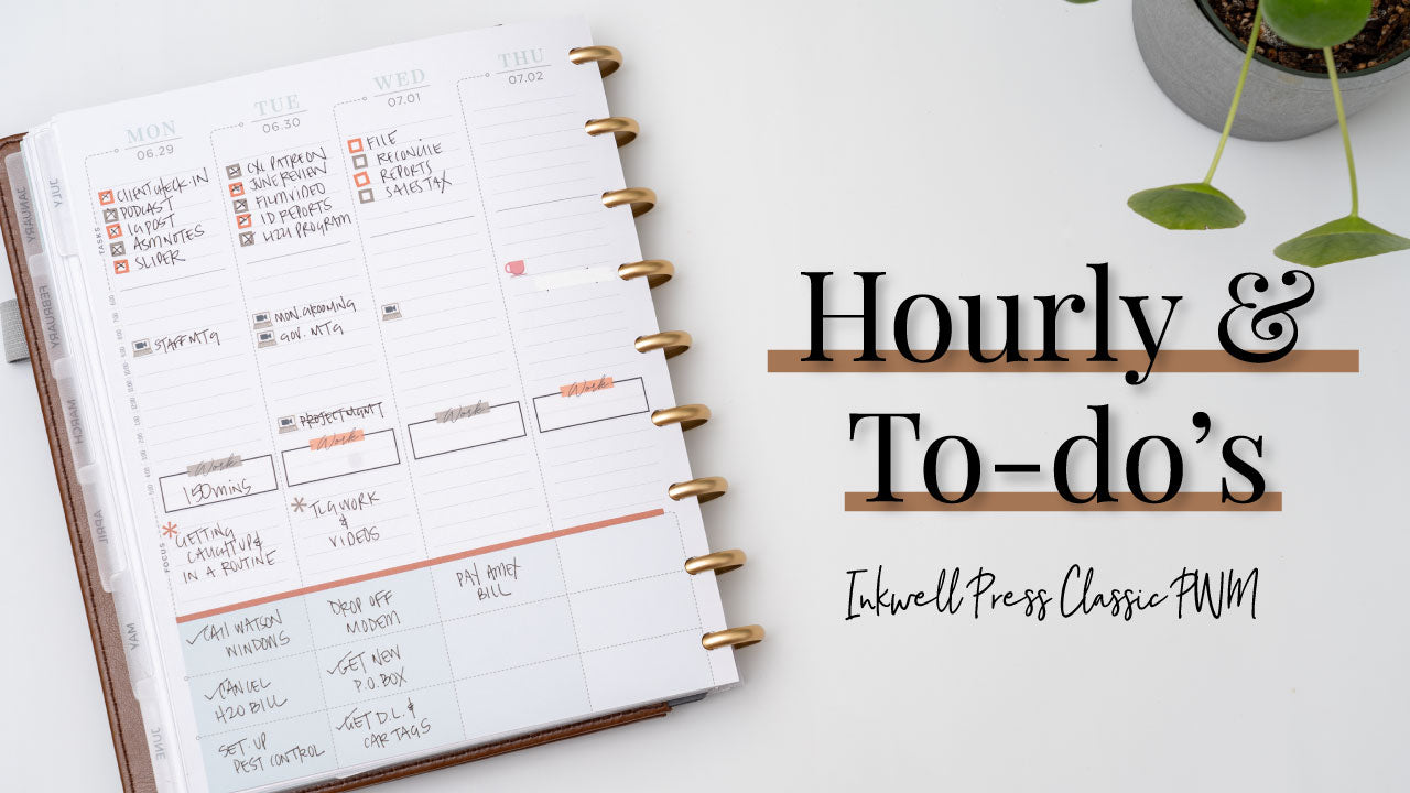 Hourly & To-Do Plan With Me | Inkwell Press Classic