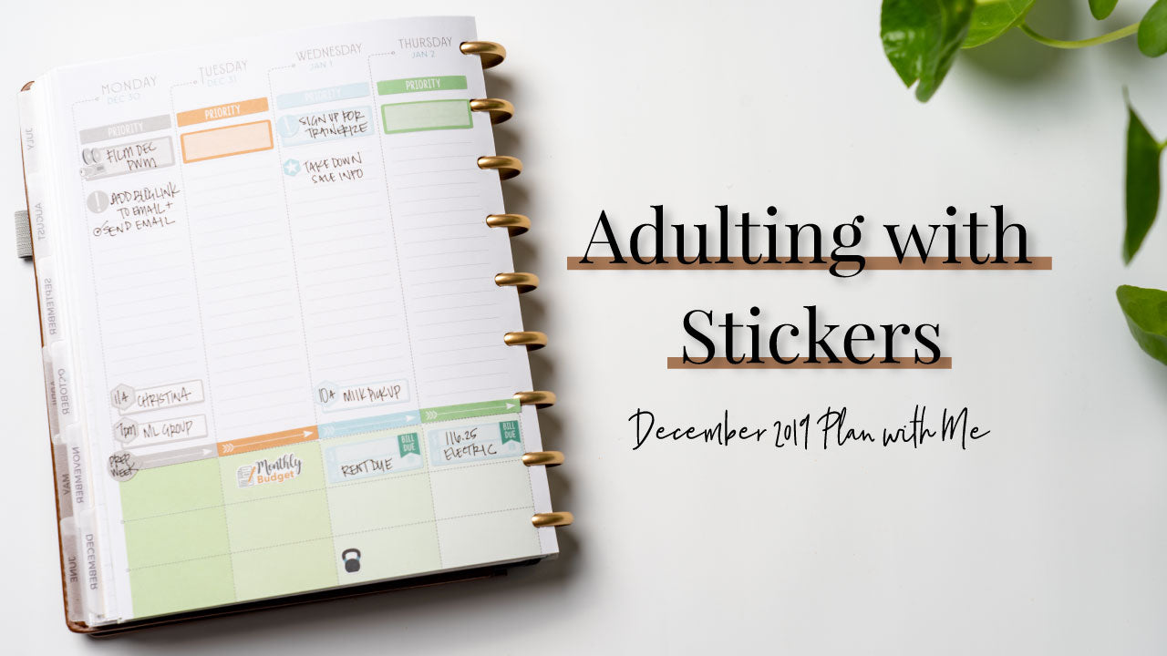Adulting with Stickers | December 2019 Planner Flip Through