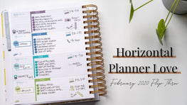 Horizontal Planner Love | February 2020 Planner Flip Thru