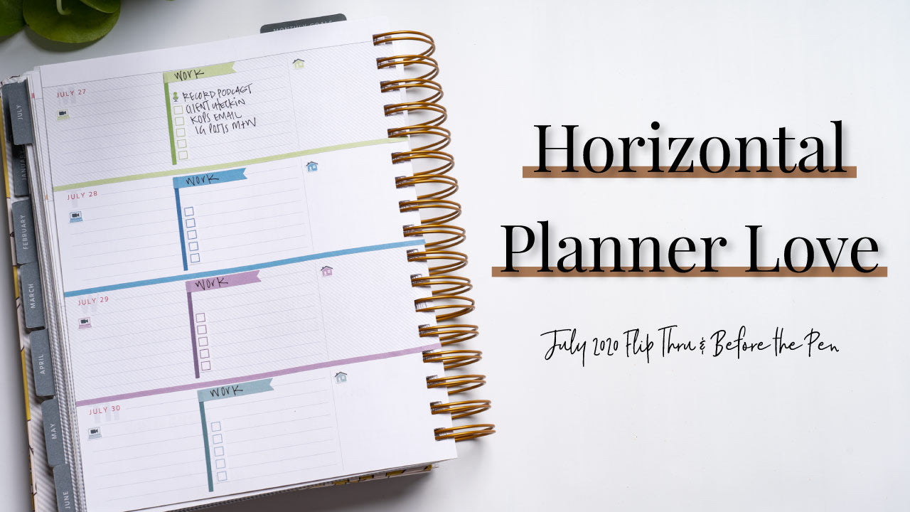 New Planner Spread Layouts | July Flip Thru