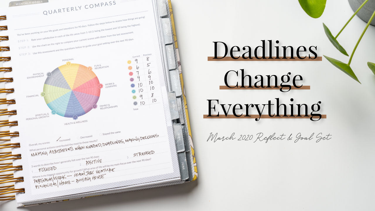 Deadlines Change Everything | March 2020 Reflect & Goal Set