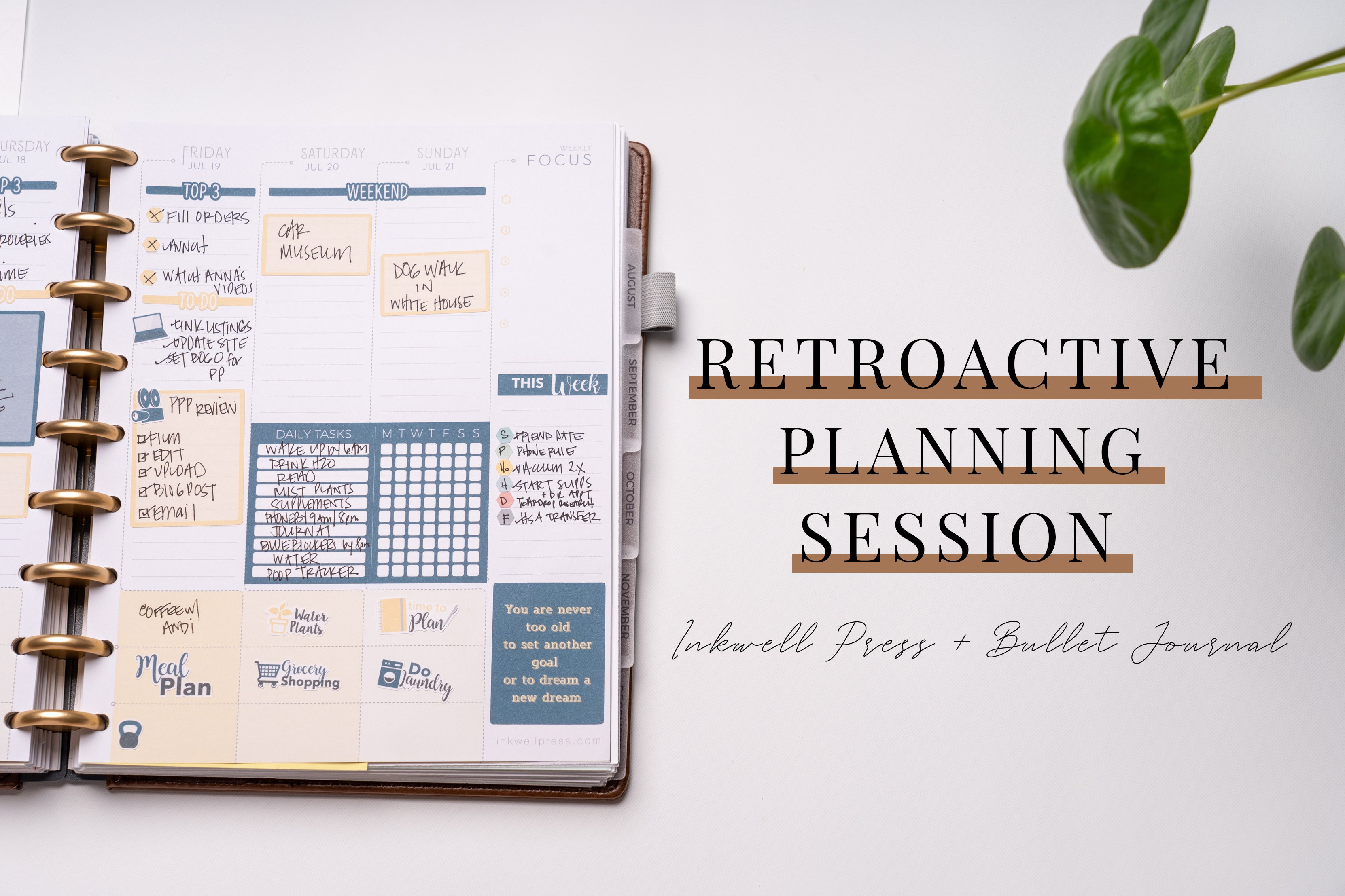 Retroactive Planning Session | IWP + BUJO