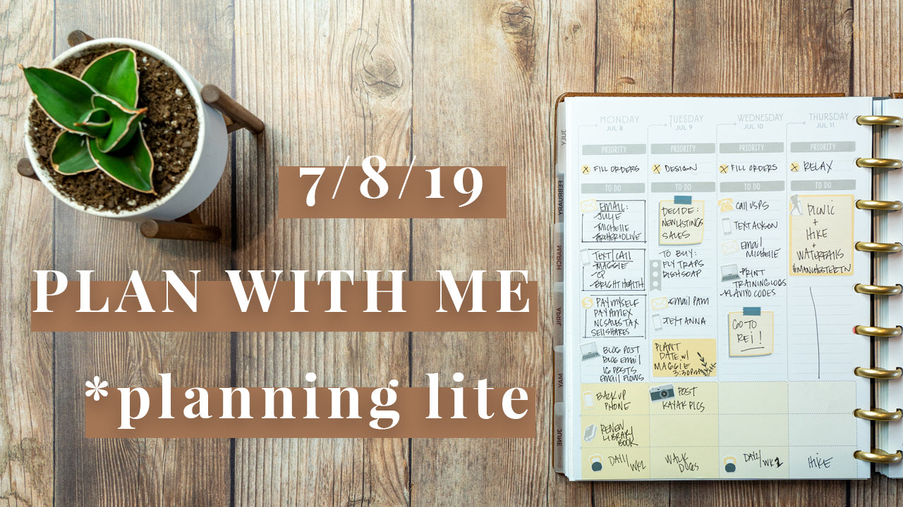 Planning Lite Plan with Me | Week of 7/8/19