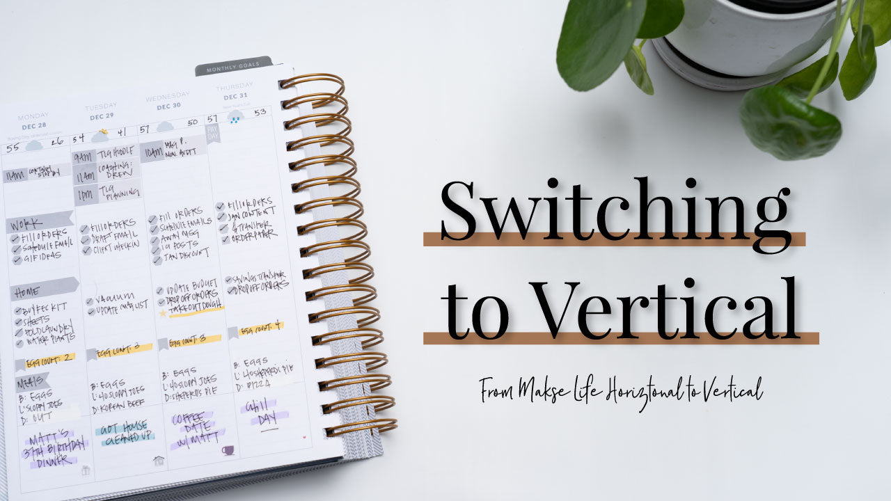 Switching Back to a Vertical Planner for 2021