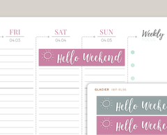 Hello Weekend Header Stickers for 2020 inkWELL Press Planners IWP-RL96
