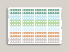Solid Hexagon Checkbox Flag Stickers for 2019 inkWELL Press Planners IWP-G1