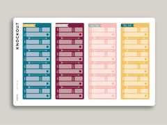 Solid Month View Sidebar Bill Due Planner Stickers for 2020 inkWELL Press Planners IWP-RL38