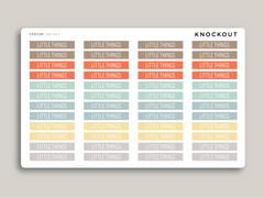 Classic Header Stickers for 2020 inkWELL Press Planners IWP-RL3