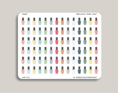 Nail Polish Planner Stickers for 2019 inkWELL Press Planners IWP-T109