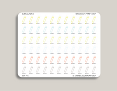 Pencil Icon Planner Stickers for 2019 inkWELL Press Planners IWP-T114