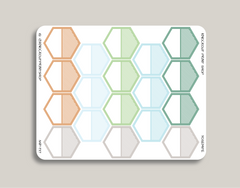 Striped Large Hexagon Label Planner Stickers for 2019 inkWELL Press Planners IWP-T117