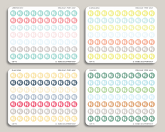 Meal Plan Circle Icon Stickers for 2019 inkWELL Press Planners IWP-T12