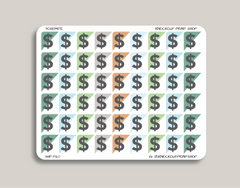 Dollars Sign Corner Label Planner Stickers for 2019 inkWELL Press Planners IWP-T120