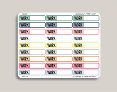 Striped Single Line | To Do, Work, Blank | Planner Stickers for 2019 inkWELL Press IWP-T16