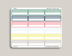 Striped Blank Quarter Box Planner Stickers for 2019 inkWELL Press Planners IWP-T17