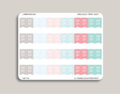 Day Off Flag Stickers for 2019 inkWELL Press Planners IWP-T18