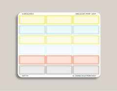 Solid Blank Quarter Box Planner Stickers for 2019 inkWELL Press Planners IWP-T19