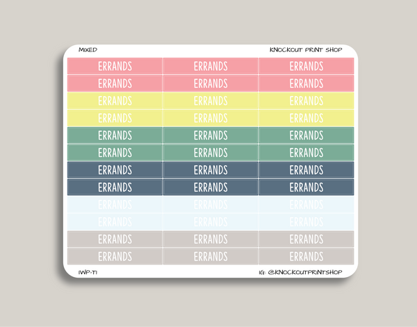 CLASSIC Header Stickers for 2019 inkWELL Press Planners IWP-T1