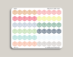 Birthday Hexagon Planner Stickers for 2019 inkWELL Press Planners IWP-T20