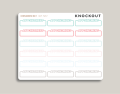 Bubble Word Box Stickers for 2019 inkWELL Press Planners IWP-T257