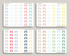 Yoga Icon Planner Stickers for 2019 inkWELL Press IWP-T25